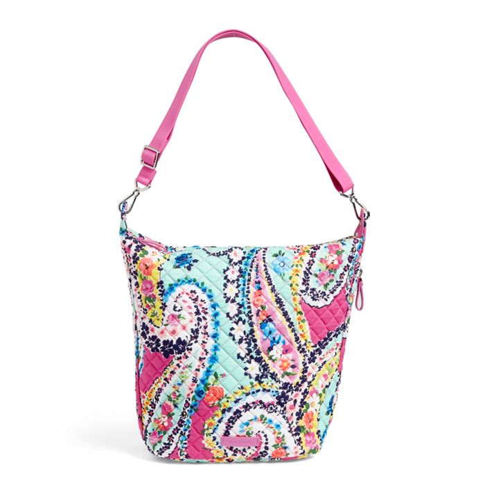 Vera Bradley Carson Hobo Bag Wildflower Paisley