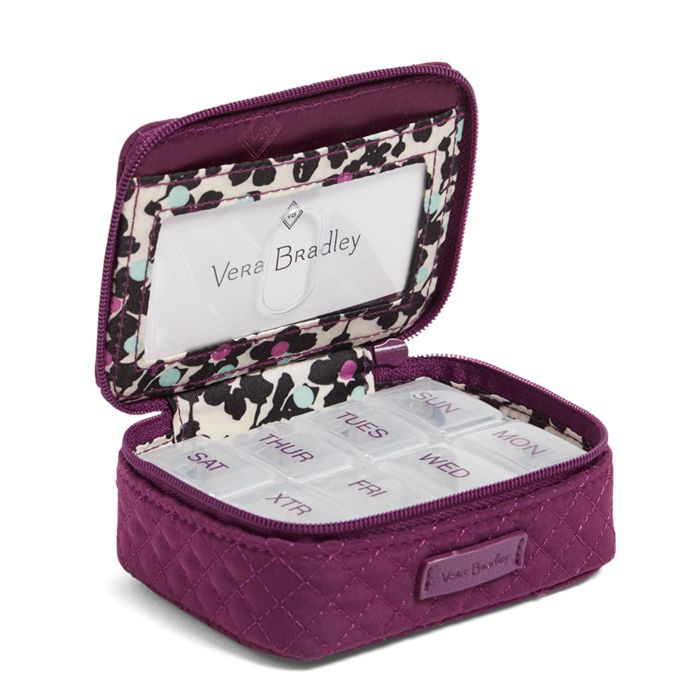 Iconic Travel Pill Case-Gloxinia Purple