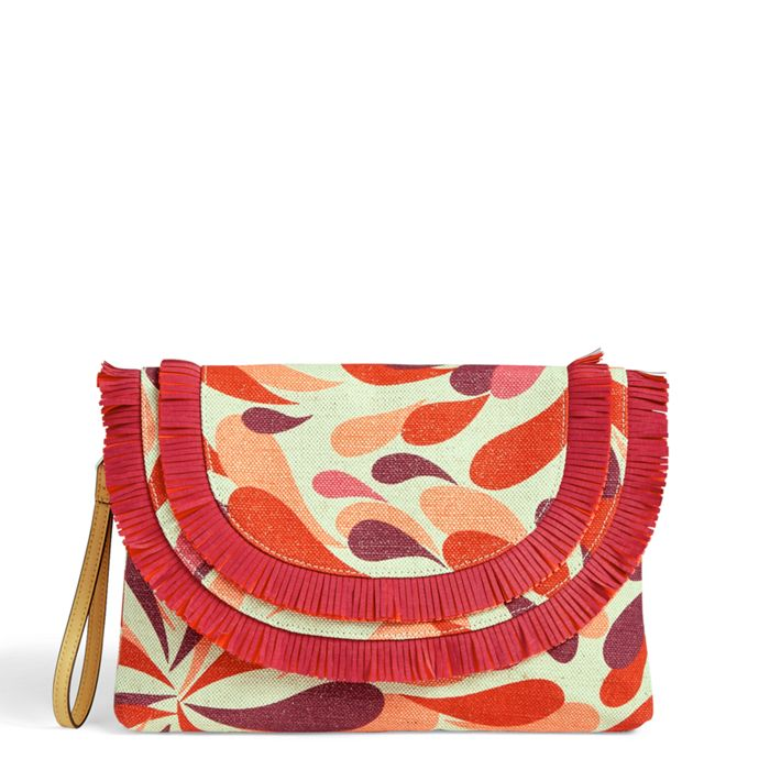 Vera Bradley Fringed Wristlet Summer Splash