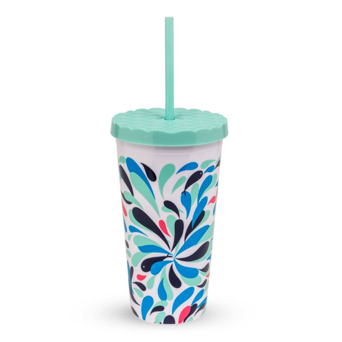 Vera Bradley 20 oz Travel Tumbler w/ Flexible Straw