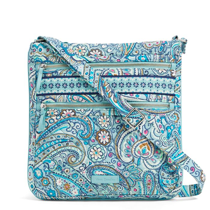 Iconic Triple Zip Hipster-Daisy Dot Paisley