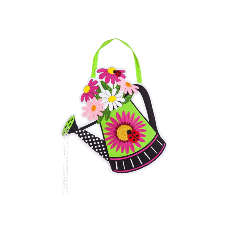Watering Can Welcome Door Decor