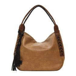 Camel Hobo with Whipstitch and Brown Tassel