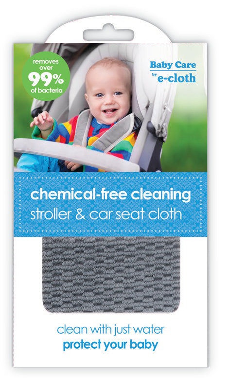 Baby Care by E-Cloth Chemical Free Cleaning Stroller and Car Seat Cloth