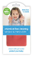 Baby Care by E-Cloth Chemical Free Cleaning Window and Mirror Cloth