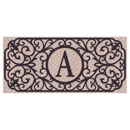 "Sassafras Filigree Monogram ""A""  Embossed Switch Mat"