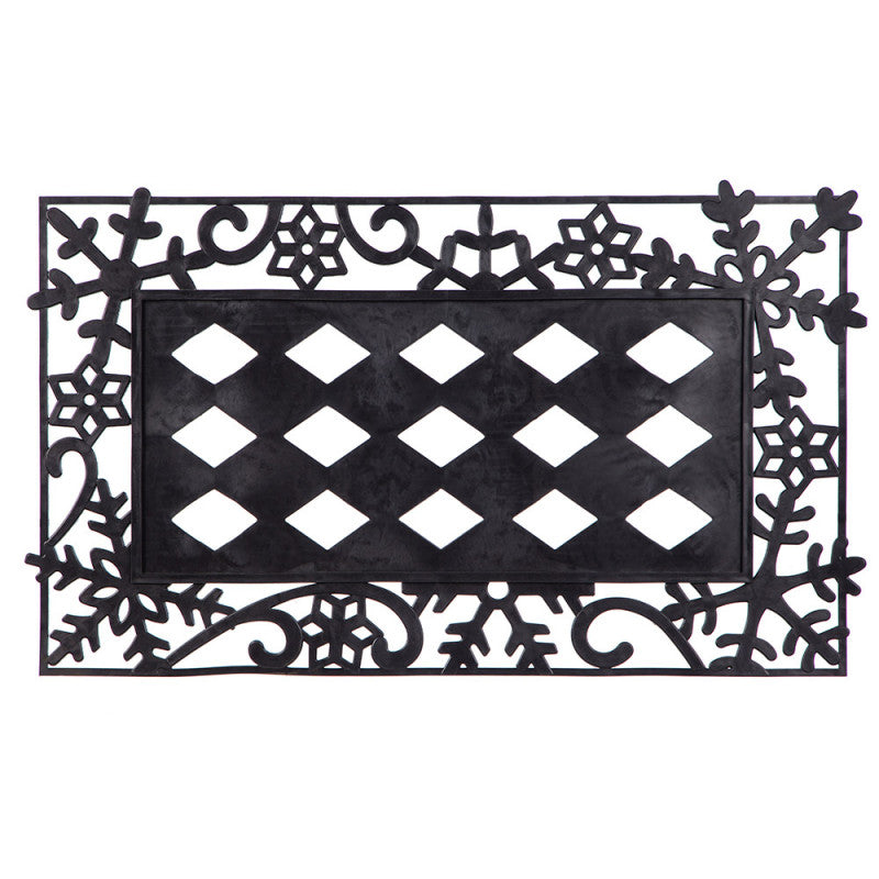 Sassafras Decorative Snowflake Mat Tray