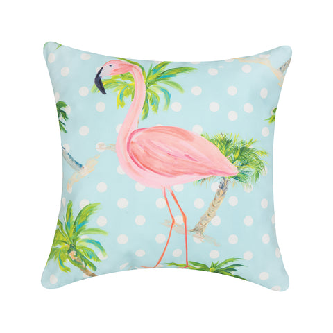 C&F Home - Palm Beach Flamingo 18 x 18 Indoor/Outdoor Pillow