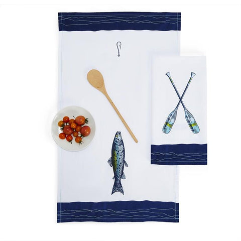 Lakin It Easy Dish Towels with Embroidery