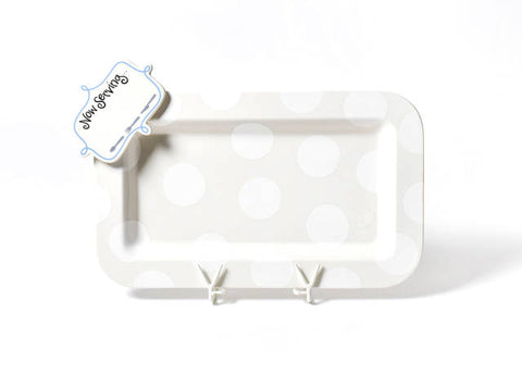 Happy Everything Mini Rectangle Platter White Dot with Mini Attachment