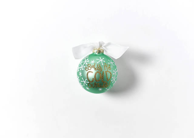 Coton Colors Baby It's Cold Outside Glass Ornament