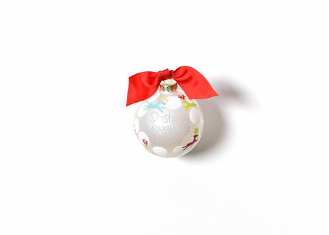 Coton Colors Dashing Through The Snow Glass Ornament