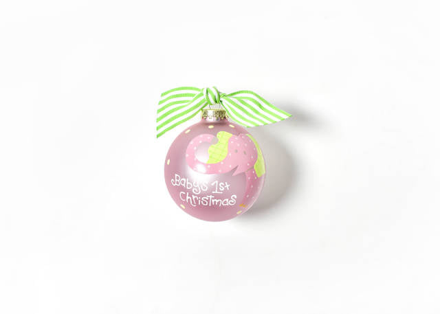 Coton Colors Elephant Pink Glass Ornament