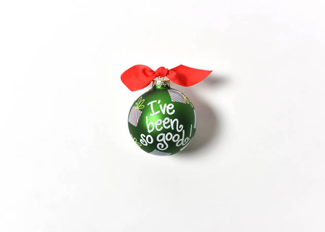 Coton Colors I've Been So Good Glass Ornament
