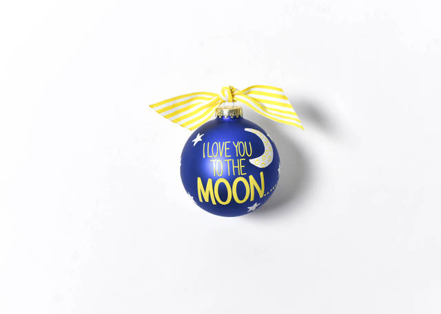 Coton Colors I Love You to the Moon and Back Glass Ornament