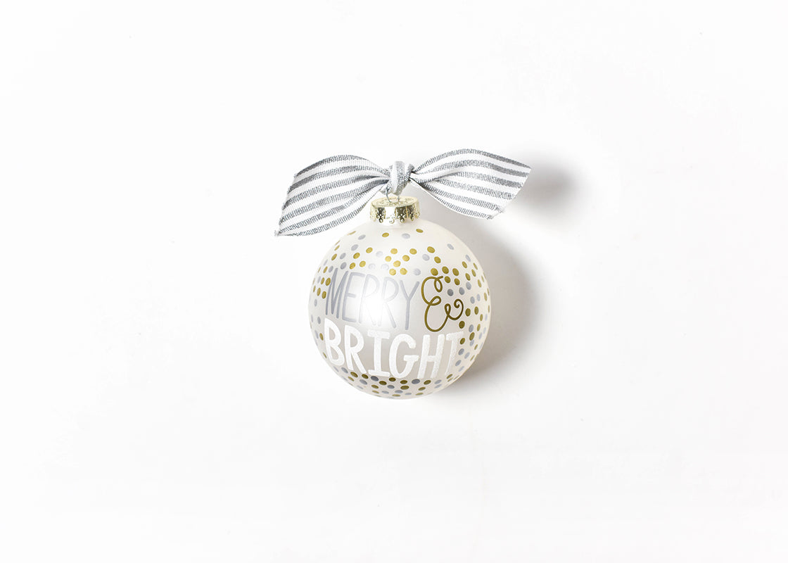 Coton Colors Metallic Confetti Merry and Bright Glass Ornament