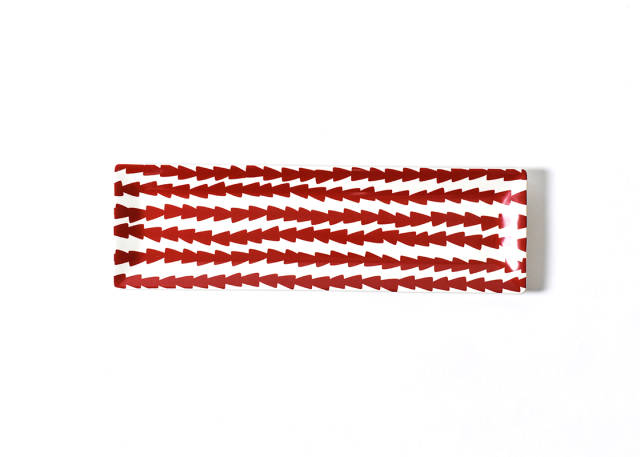 Coton Colors Red Dart Skinny Rectangle Tray