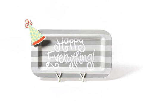 Happy Everything Mini Rectangle Platter Stone Stripe with Mini Attachment