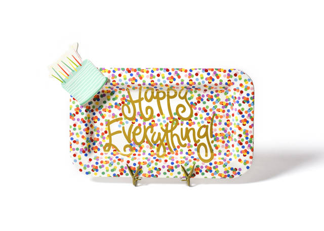 Happy Everything Toss Mini Rectangle Platter with Sparkle Cake Mini Attachment