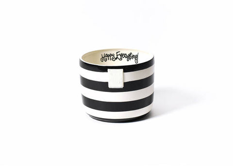 Happy Everything Mini Bowl Black Stripe