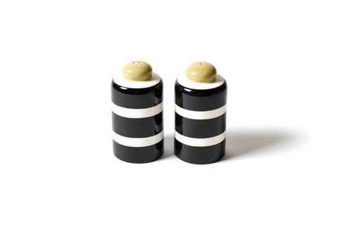 Coton Colors Black Plank Column Salt and Pepper Shakers