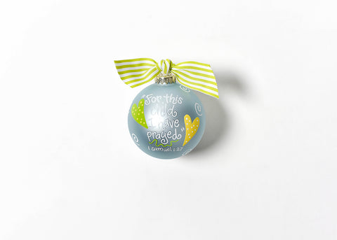 Coton Colors For This Child Blue Glass Ornament