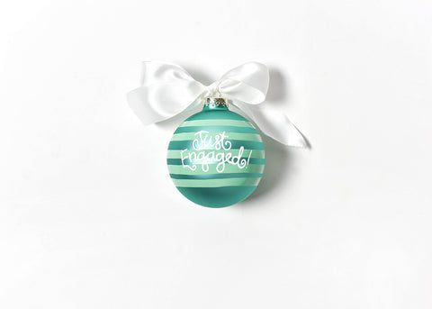 Coton Colors She Said Yes! Glass Ornament