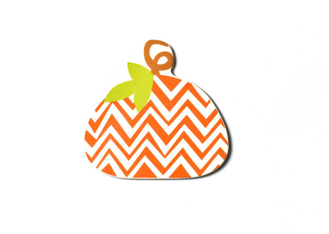 Happy Everything Big Attachment Chevron Pumpkin