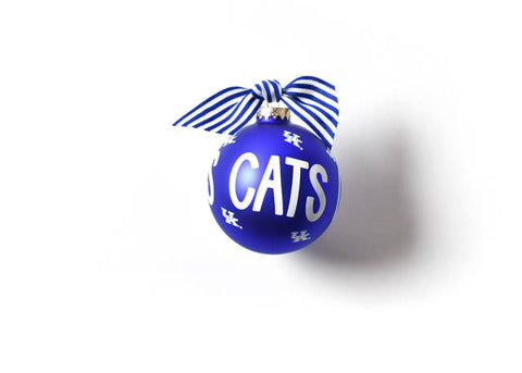 Coton Colors Kentucky Cats Glass Ornament