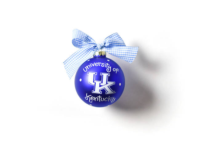 Coton Colors Kentucky Logo Glass Ornament