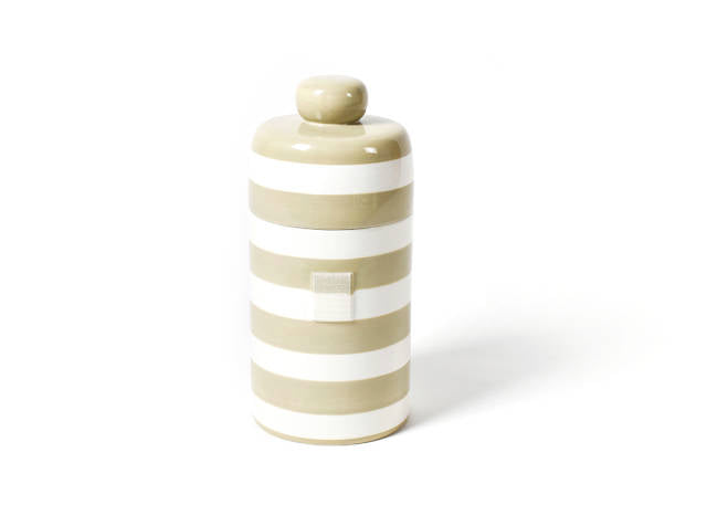 Happy Everything Mini Canister Neutral Stripe