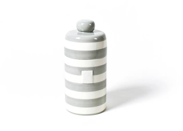 Happy Everything Mini Canister Stone Stripe