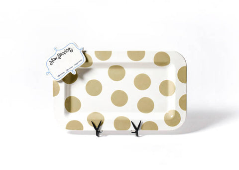 Happy Everything Mini Rectangle Platter Neutral Dot with Mini Attachment