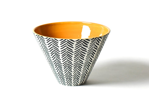 Coton Colors Black Herringbone Large Mod Party Bowl