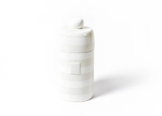Happy Everything Mini Canister White Stripe
