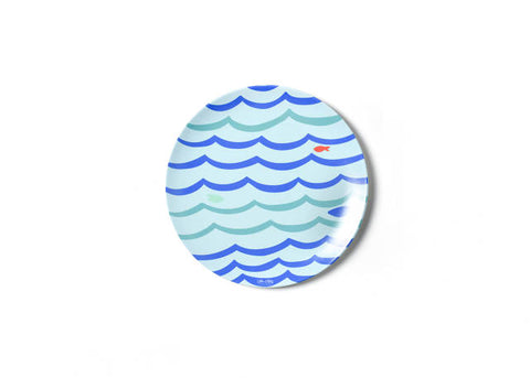 Coton Colors Under The Sea Waves Melamine Dinner Plate