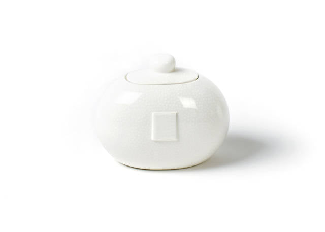 Happy Everything Mini Cookie Jar White Small Dot