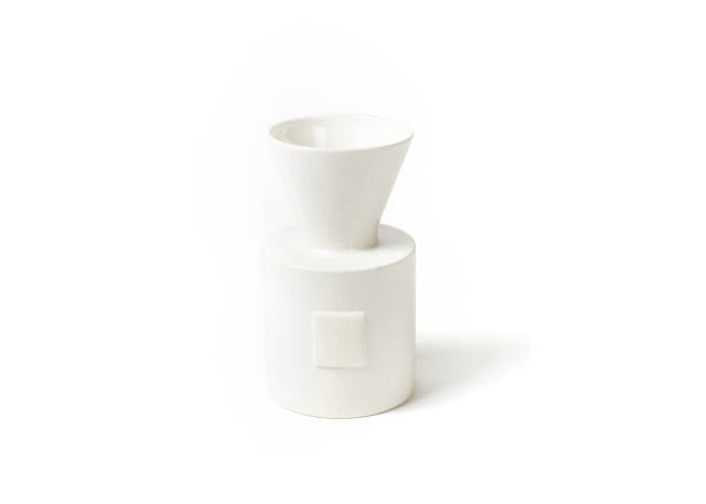 Happy Everything Mini Vase Small White Dot