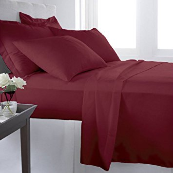 Virah Bella 2200 Series Microfiber Sheet Set: Burgundy Full