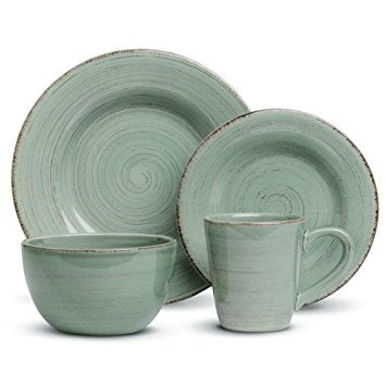 TAG Sonoma 4 Piece Place Setting Green