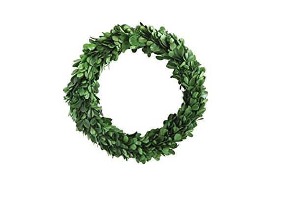 "9.75"" Round Preserved Boxwood Wreath"
