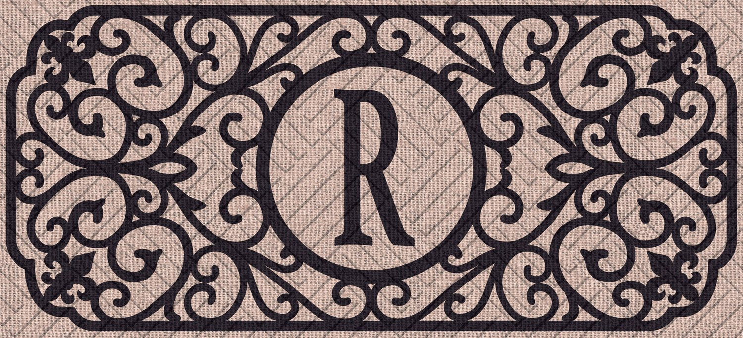 "Sassafras Filigree Monogram ""R""  Embossed Switch Mat"