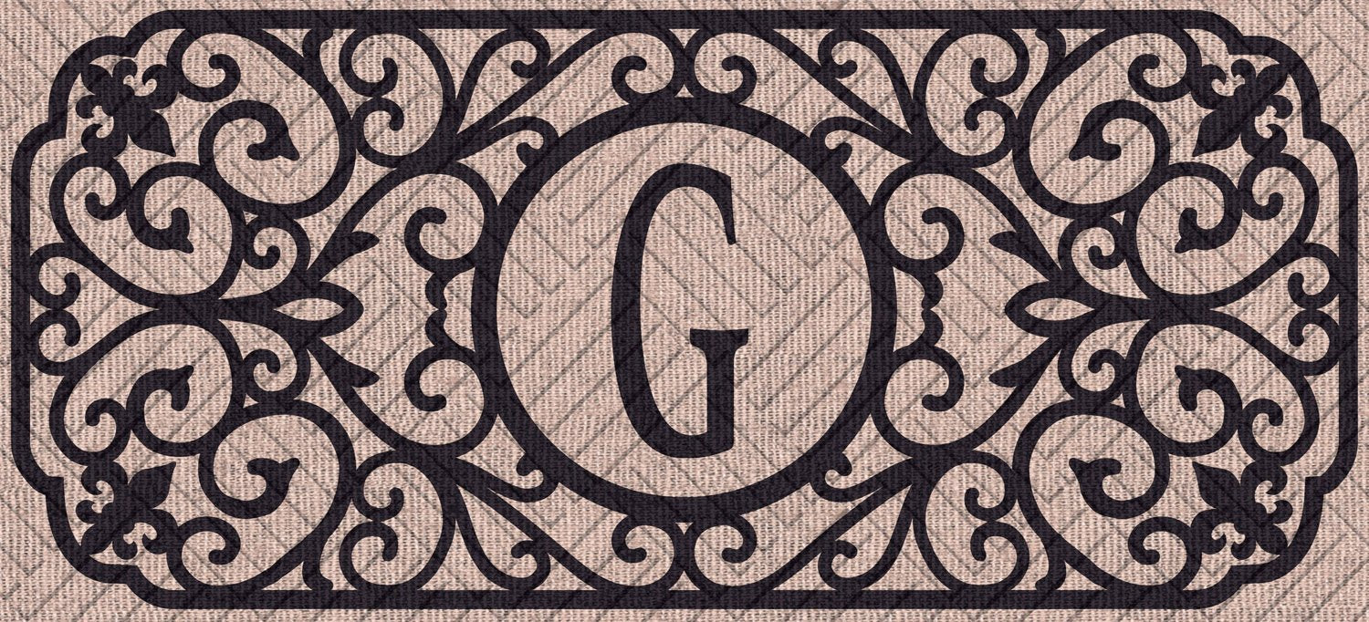 "Sassafras Filigree Monogram ""G""  Embossed Switch Mat"