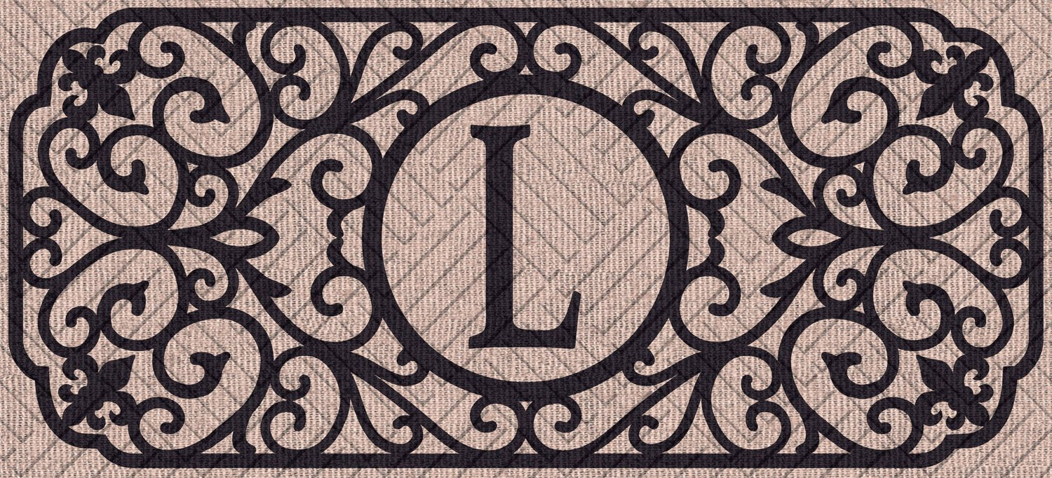 "Sassafras Filigree Monogram ""L""  Embossed Switch Mat"
