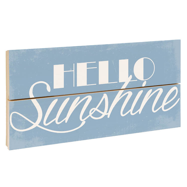Hello Sunshine wood crate sign