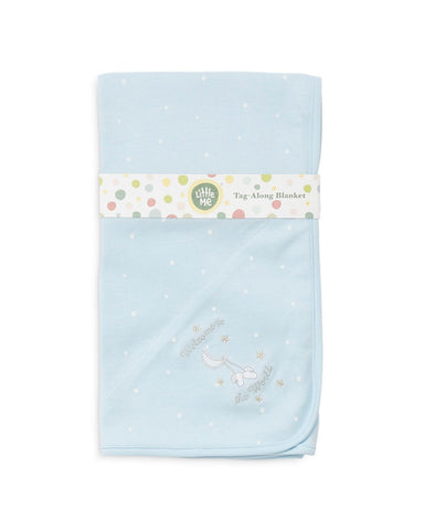 "Little Me Tag-Along Blanket ""Welcome to the World"""