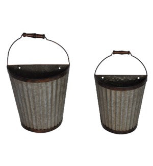 Metal Half Pint Wall Basket- Small