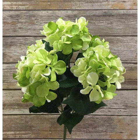 "22"" Hydrangea Bush-Lime Green"
