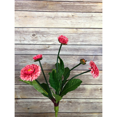 "15"" English Daisy Bush-Hot Pink"