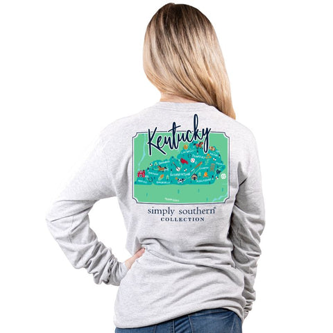 Simply Southern Long Sleeve Shirt- State of Kentucky
